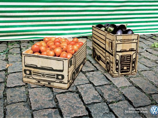 Volkswagen Outdoor Ad -  Vegetables