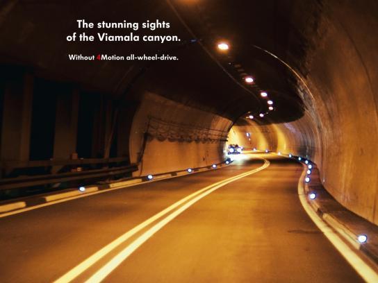 Volkswagen Print Ad -  Viamala Canyon