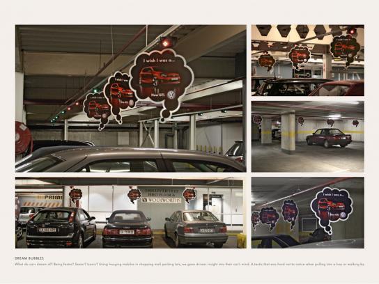 Volkswagen Ambient Ad -  Dream bubbles