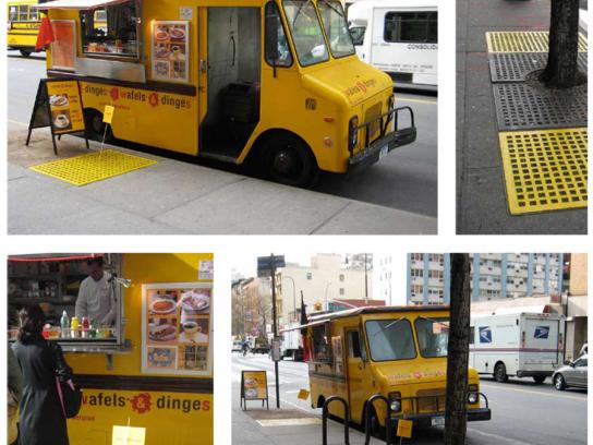 Wafels & Dinges Ambient Ad -  The big waffle