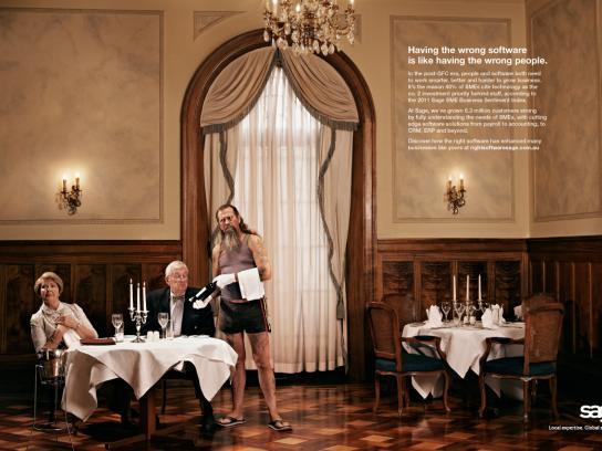 Sage Print Ad -  Waiter