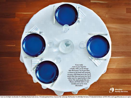 Wanslea Family Services Print Ad -  Plates