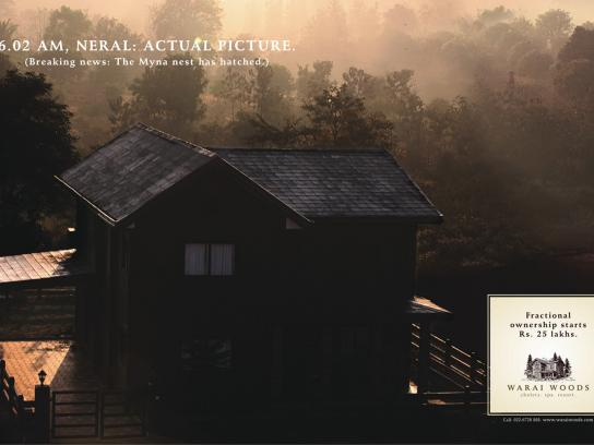 Warai Woods Print Ad -  House, 2