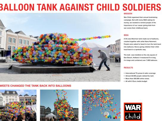 War Child Ambient Ad -  Balloon Tank