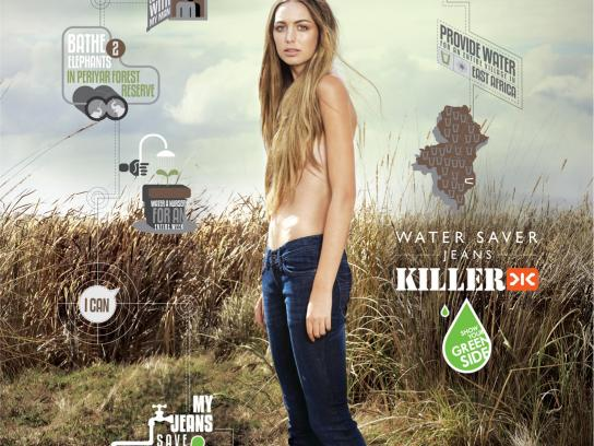 Killer Jeans Print Ad -  Water Saver, 3