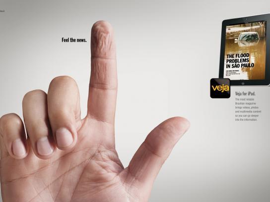 Veja Print Ad -  Fingers, Water