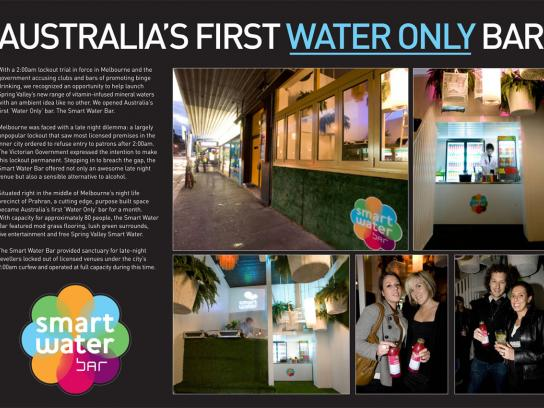 Spring Valley Ambient Ad -  Smart Water Bar