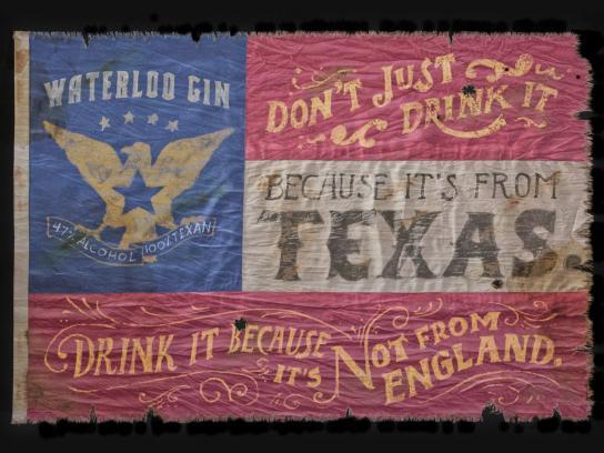 Waterloo Gin Print Ad -  England