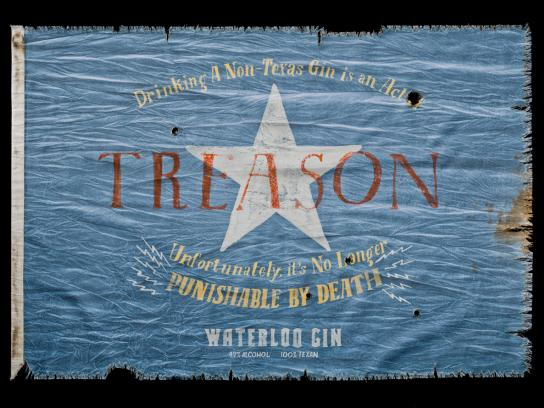 Waterloo Gin Print Ad -  Treason