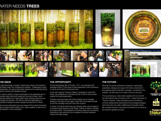 Teh Kotak Direct Ad -  Thanks to nature campaign activation, Water needs trees