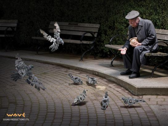 Wave Sound Productions Print Ad -  Pigeons