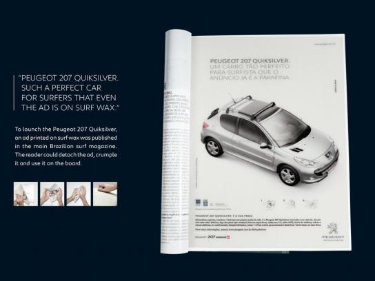 Peugeot Print Ad -  Wax