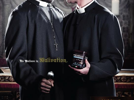 Antonio Federici Print Ad -  We Believe In Salivation