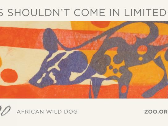 Woodland Park Zoo Print Ad -  African Wild Dog