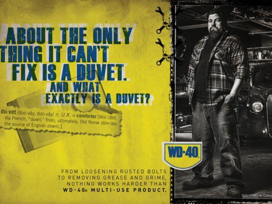 WD-40 Print Ad -  Duvet