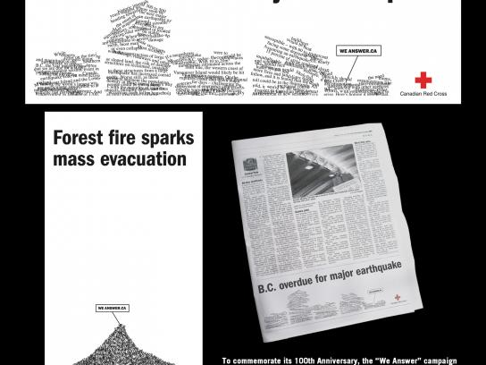 Red Cross Print Ad -  We answer, 4