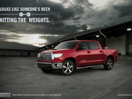 Toyota Print Ad -  Weights