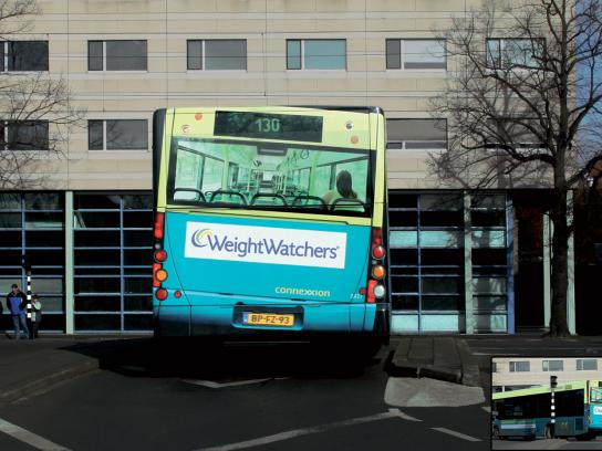 Weight Watchers Ambient Ad -  Bus