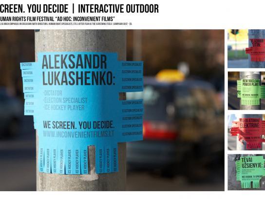 Inconvenient Films Outdoor Ad -  Inconvenient Films  We screen. You decide.
