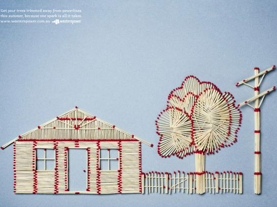 Western Power Print Ad -  Matchsticks
