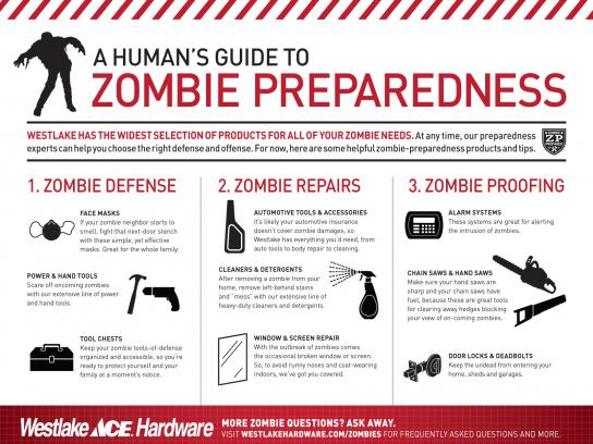 Westlake Hardware Direct Ad -  Zombie Preparedness, For Humans