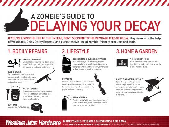 Westlake Hardware Direct Ad -  Zombie Preparedness, For Zombies