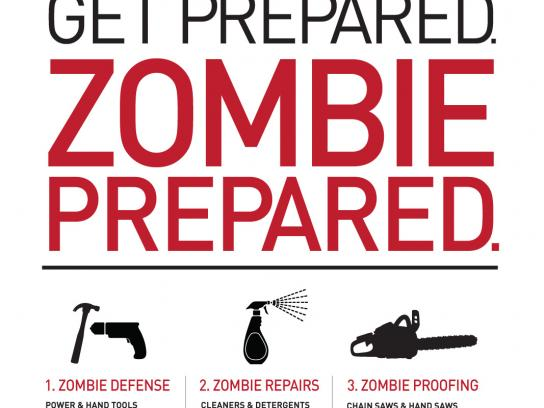 Westlake Hardware Outdoor Ad -  Zombie Preparedness, For Humans