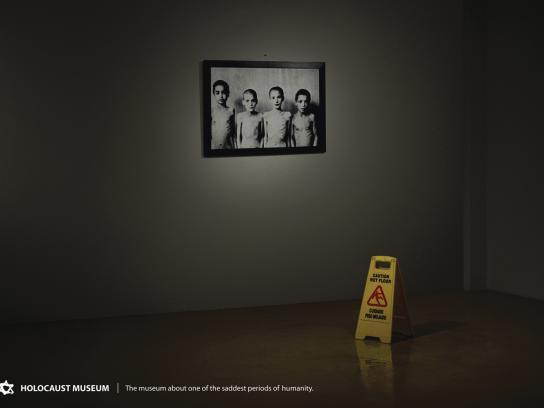 Holocaust Museum Print Ad -  Wet floor