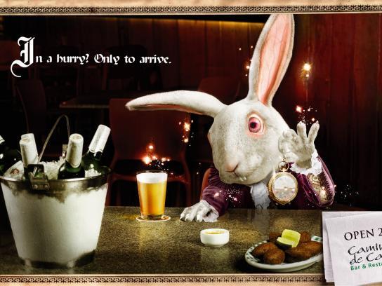 Caminho de Casa Print Ad -  White Rabbit, Alice