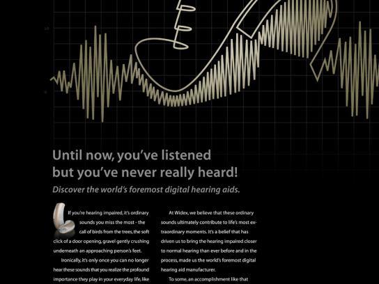 Widex Print Ad -  Footsteps