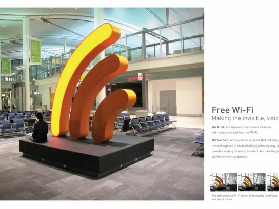 Toronto Pearson International Airport Outdoor Ad -  Wi-Fi Art