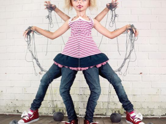 Levi's Print Ad -  Little Monsters, Wiggly widow