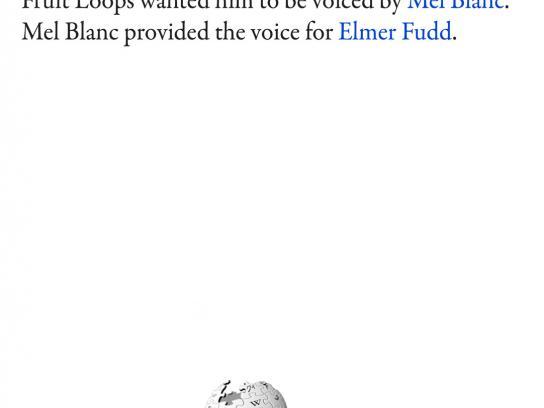Wikipedia Print Ad -  Elmer