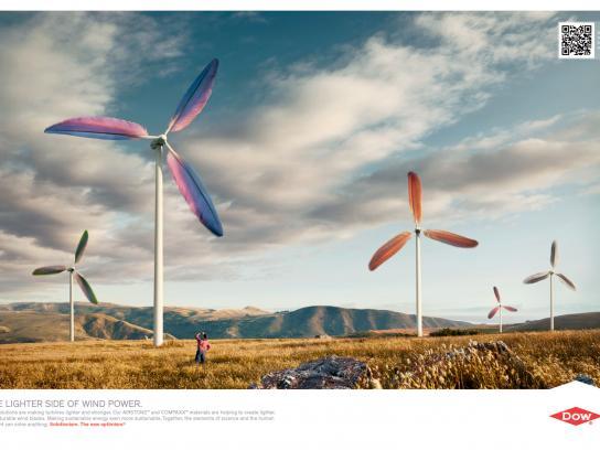 Dow Chemical Company Print Ad -  Wind Turbines