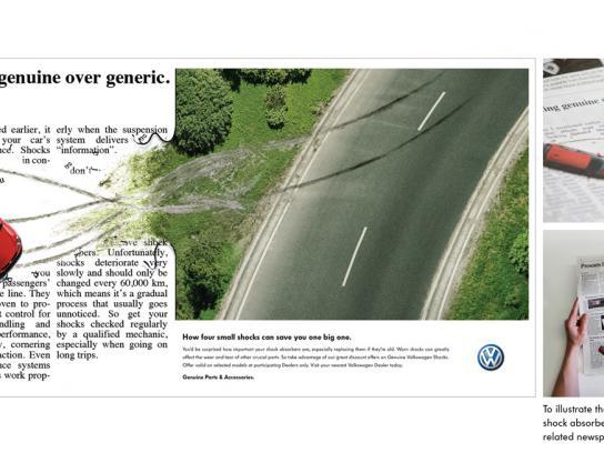 Volkswagen Print Ad -  Crash