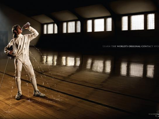 Wisconsin Fencing Academy Print Ad -  Holes