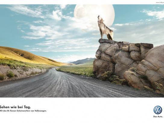 Volkswagen Print Ad -  Wolf