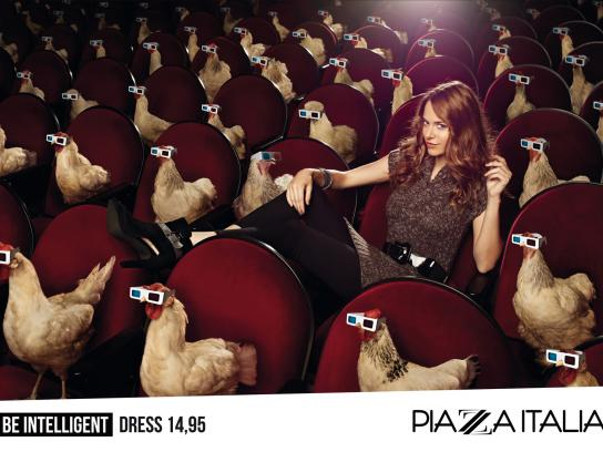 Piazza Italia Print Ad -  Train