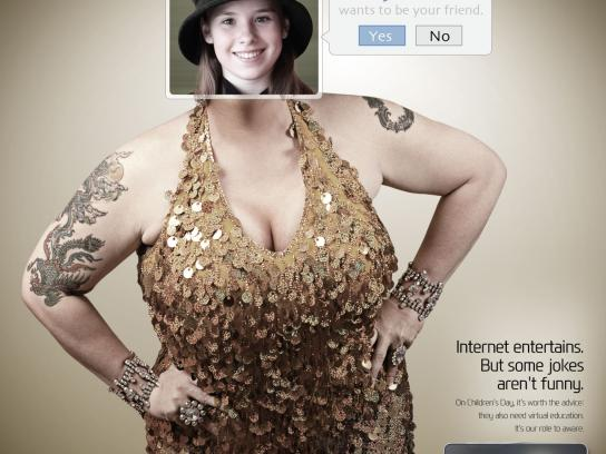 Portal MaisAB Print Ad -  Internet conscious, Woman