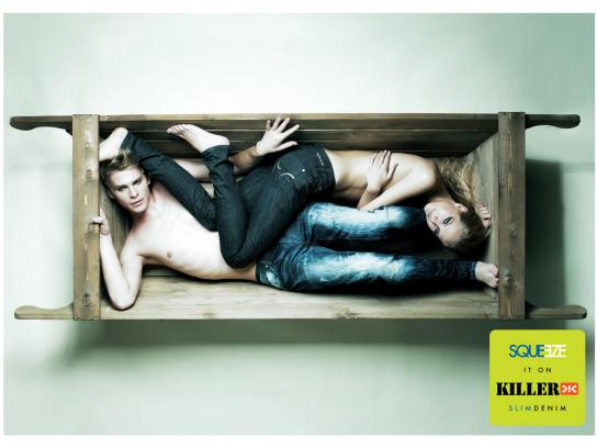 Killer Jeans Print Ad -  Wood carriage