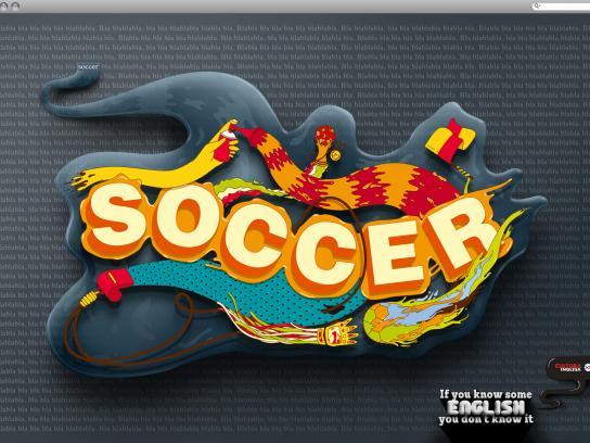 Cultura Inglesa Print Ad -  Soccer