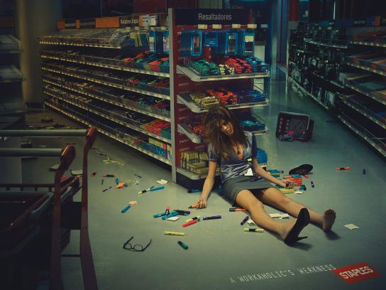 Staples Print Ad -  Workaholic, Claire
