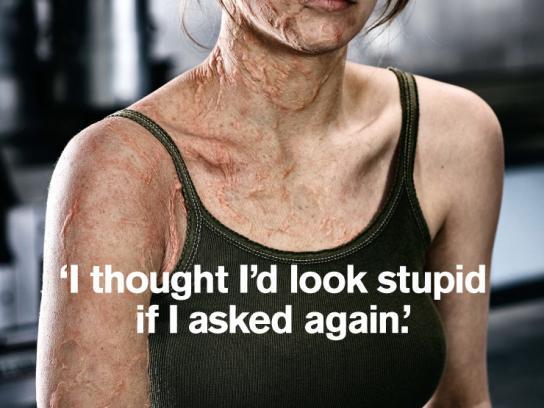 Worksafe Print Ad -  Burnt