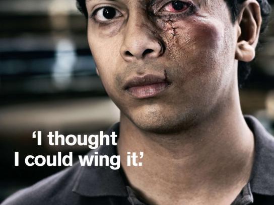 Worksafe Print Ad -  Eye