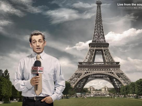 CNN Print Ad -  Sarkozy