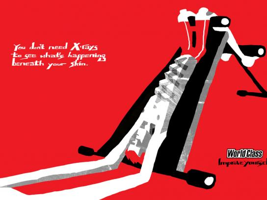 World Class Gyms Print Ad -  X-Ray