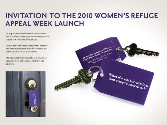 Women's Refuge Direct Ad -  Invitation to the 2010 Women's Refuge Appeal Week Launch