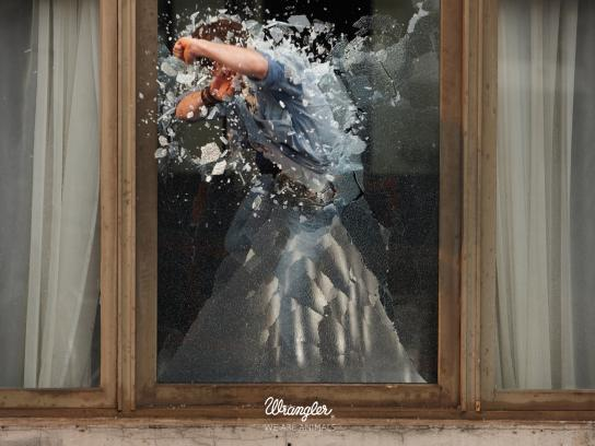 Wrangler Print Ad -  Stunt, 1