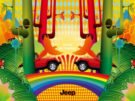 Jeep Print Ad -  Rainforest