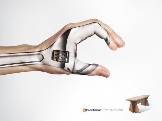Practimac Print Ad -  Wrench